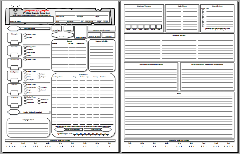 Declarative image with regard to dnd 5e printable character sheet