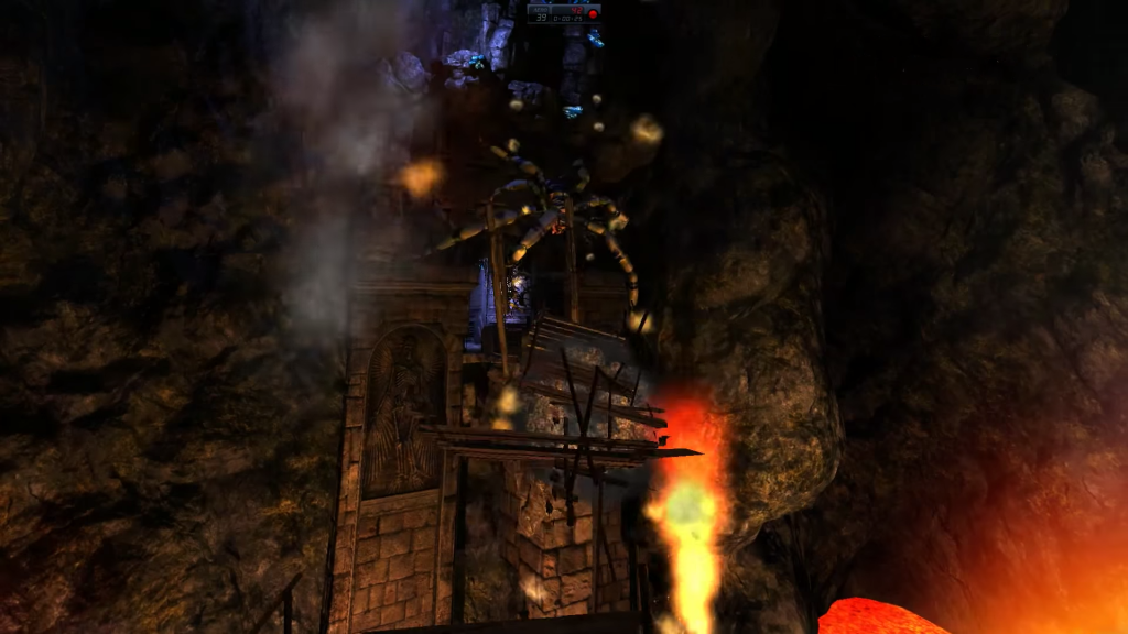 A screen grab from the Kickstarter video of an early prototype of Underworld Ascendant